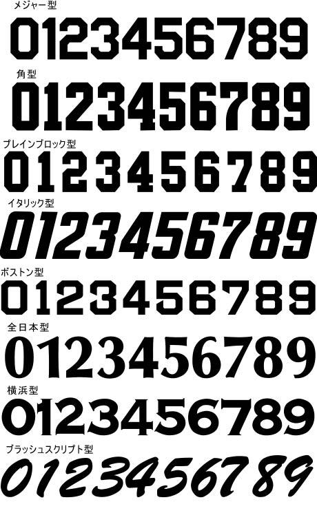 野球 ユニフォーム ロゴ フォント